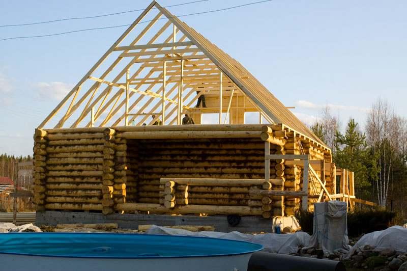 Крыша своими руками в бревенчатом доме