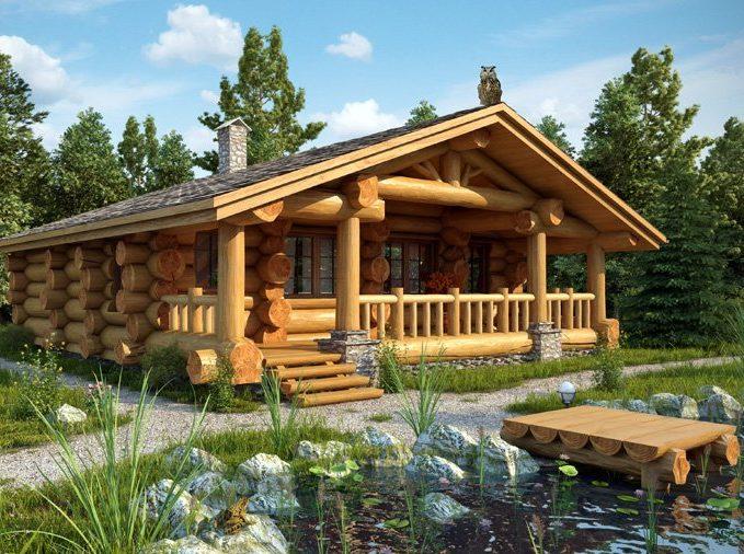Дома и бани из бревна в Москве. Бесплатная доставка